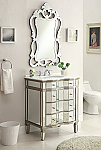 30 inch Adelina Mirrored Bath Vanity Cabinet & Mirror