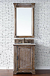 26 inch Driftwood Finish Single Sink Bathroom Vanity Optional Countertop