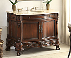 "Adelina 50"" Antique Style Bathroom Vanity Fully Assembled"