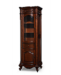 72 inch Linen Tower Antique Cherry Finish