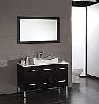 Aber Contemporary 48 inch Porcelain Vessel Sink Bathroom Vanity Set