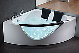 EAGO 5' Rounded Clear Modern Double Seat Whirlpool Bath Spa