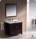 "Oxford 36"" Traditional Bathroom Vanity Mahogany Finish"