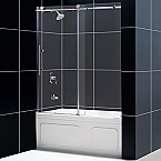 "Dreamline 60"" x 62"" Enigma-X Framless Sliding Tub Door"