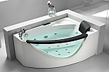 Eago AM198-L 5' Rounded Clear Modern Corner Whirlpool Spa