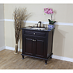 "The Bella Collection 32"" Single Sink Vanity Dark Mahogany"