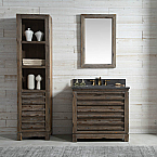36 inch Distressed Wood Bathroom Vanity Moon Stone Countertop