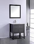 24 inch Contemporary Espresso Finish Bathroom Vanity Cabinet