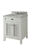 26 inch Adelina Cottage White Finish Bathroom Vanity