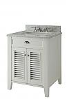 26 inch Adelina Cottage White Finish Bathroom Vanity