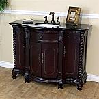 Bella 48 inch Antique Single Sink Wood Bathroom Vanity