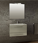 31 inch Wall Mounted Metallic Gray Modern Bathroom Vanity