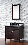 "James Martin Brittany Collection 36"" Single Vanity Burnished Mahogany"