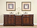 Accord Antique 90 inch Double Sink Bathroom Vanity Crema Marfil Top