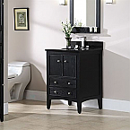 "24"" Traditional Bathroom Vanity Brown Ebony Finish"