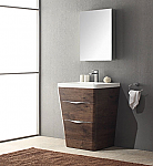 Acqua Milano 25 inch Modern Bathroom Vanity Rosewood Finish