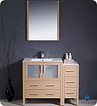 42 inch Light Oak Modern Bathroom Vanity