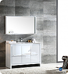 "Allier 48"" Modern Bathroom Vanity Glossy White Finish"