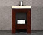 Purus 24 inch Bathroom Vanity Striped Ebony Finish