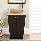 Accord Contemporary 22 inch Single Vessel Sink Bathroom Vanities
