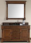 60 inch Country Oak Finish Single Traditional Bathroom Vanity Optional Countertop