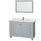 "Acclaim 48"" Single Bathroom Vanity in Oyster Gray, Undermount Square Sink with Countertop and Mirror Options"