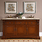 Accord 67 inch Antique Double Sink Bathroom Vanity