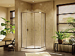 Fleurco Amalfi 36 Round Frameless Curved Glass Sliding Shower Doors