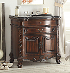 36 inch Adelina Antique Mahogany Bathroom Sink Vanity