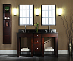 61 inch Dark Walnut Moduler Bathroom Vanity Set
