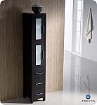 Torino Espresso Tall Bathroom Linen Side Cabinet