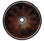 Copper Round Pumpkin 15 inch Sink Chocolate Finish