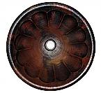 Copper Round Pumpkin 15 inch Sink Chocolate Finish