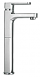 Tall Single Lever Handle Lavatory Vessel Filler in Chrome
