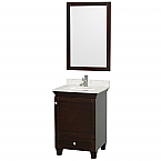 "Accmilan 24"" Espresso Bathroom Vanity Set"