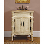 26 inch Antique Single Sink Bathroom Vanity
