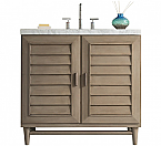 36 inch Single Sink Bathroom Vanity Whitewashed Walnut Finish