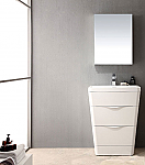 25 inch Modern Bathroom Vanity White Finish