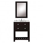 24 inch Espresso Single Sink Bathroom Vanity
