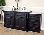 Bellaterra Home 605522B Double Sink Bathroom Vanity