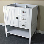 Bella 29 Inch White Finish Bathroom Vanity Base