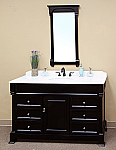 The Bella Collection 60 inch Bathroom Vanity Espresso Finish Marble Top