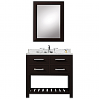 30 inch Single Sink Bathroom Vanity Espresso Finish