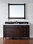 "James Martin Brittany Collection 60"" Single Vanity, Burnished Mahogany"