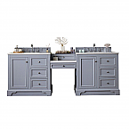 """James Martin De Soto Collection 94"""" Double Vanity Set with Makeup Table, 3 CM Optional Top and Color Option"""