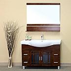 Bella 48 inch Medium Walnut Wood Single Bathroom Vanity