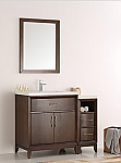 "42"" Antique Coffee Traditional Bathroom Vanity in Faucet Option"