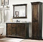 48 inch Single Sink Bathroom Vanity Antique Coffee Finish
