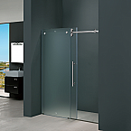 Frameless Shower Door Chrome and Stainless Steel Hardware Options