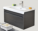 25 inch Modern Bathroom Vanity Charcoal Finish